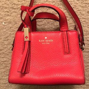 Kate Spade red small crossbody bag
